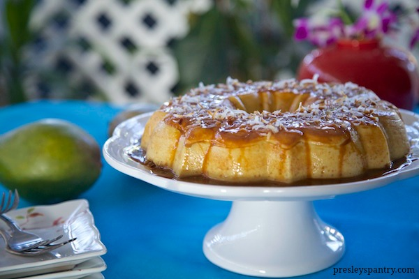 Mango Toasted Coconut Flan For Family, Friends, And All Things Good!