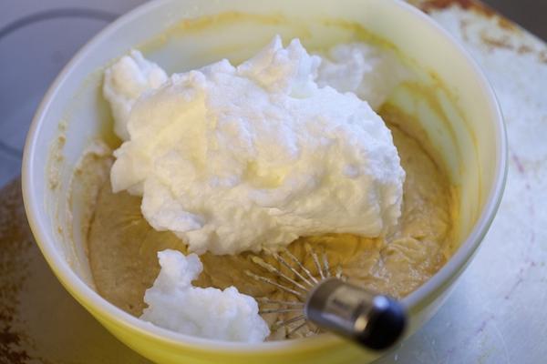 egg whites going into waffle batter
