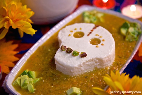A recipe I made for Dia De Los Muertos:  made with Cacique's Queso Fresco and salsa