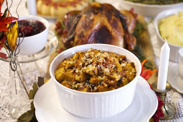 Sourdough chorizo cherry stuffing