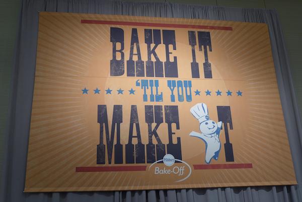 """Pillsbury Bake-off """"bake it til you make it"""" banner"""