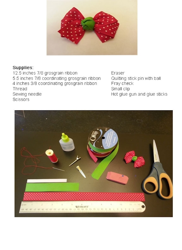 bow tie hair clip instructions