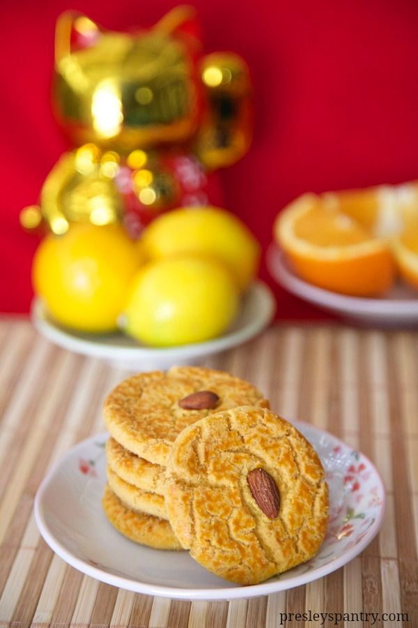 Chinese New Year Almond Cookies to celebrate the year of the sheep.