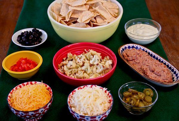Ingredients for cauliflower nachos.