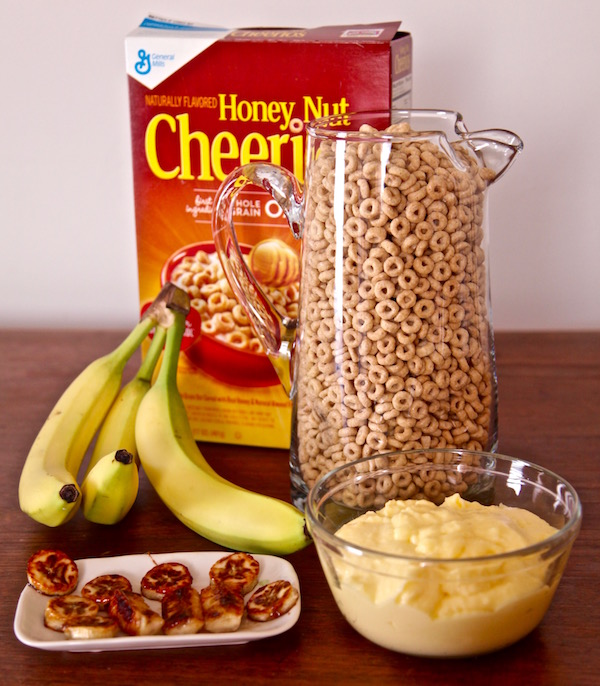 You can buy all the ingredients for a Honey Nut Cheerios banana Pudding Parfait at Walmart.