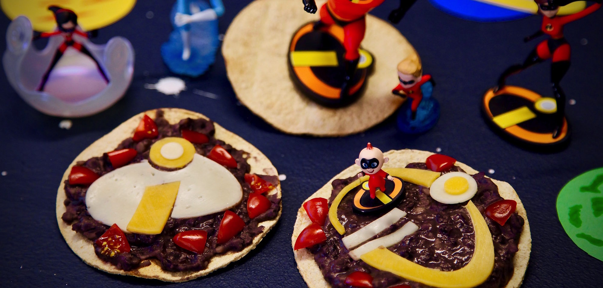 Black Bean Tostadas for INCREDIBLES 2