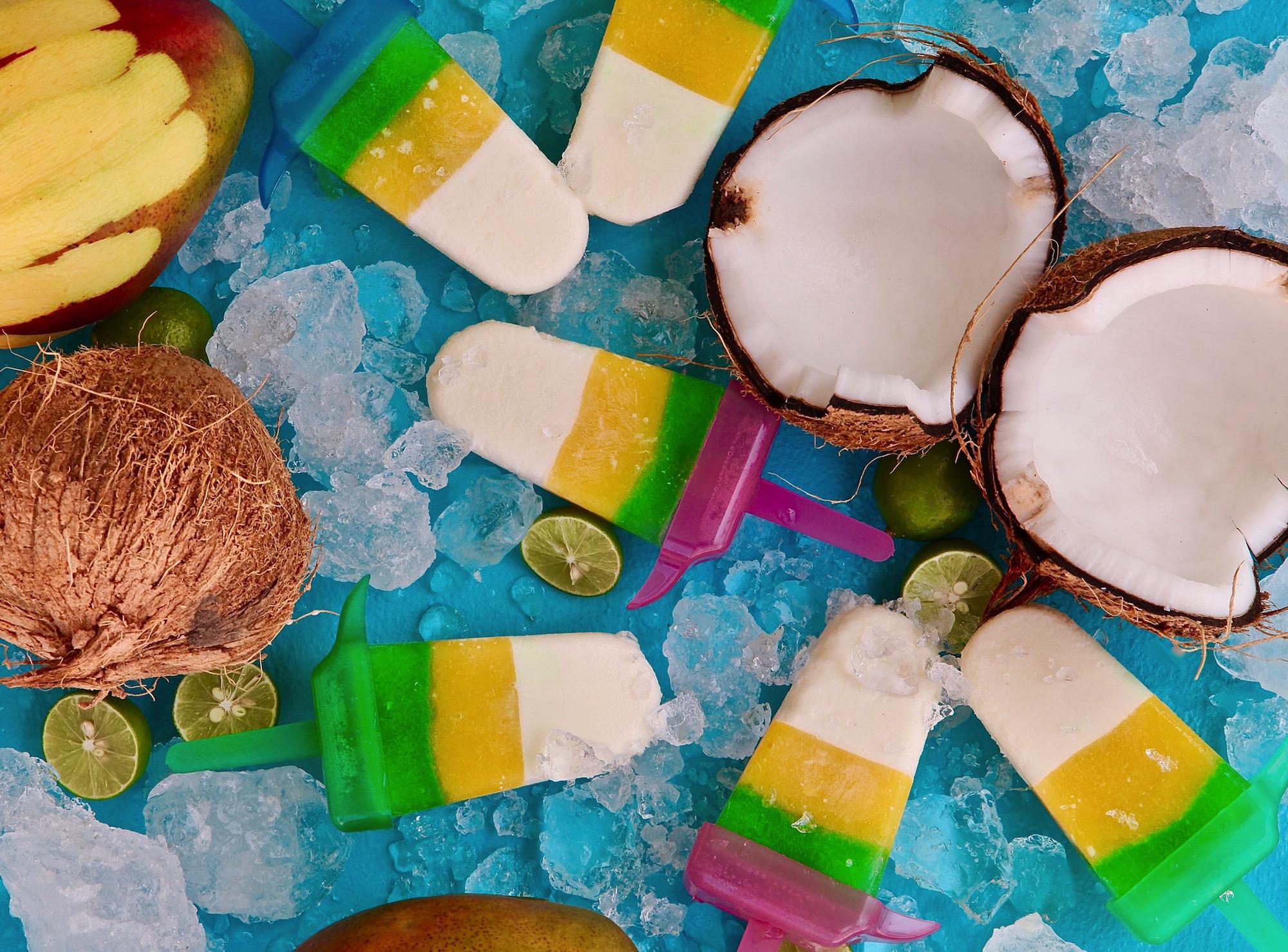 Lime Coconut Mango Paletas #PaletaWeek