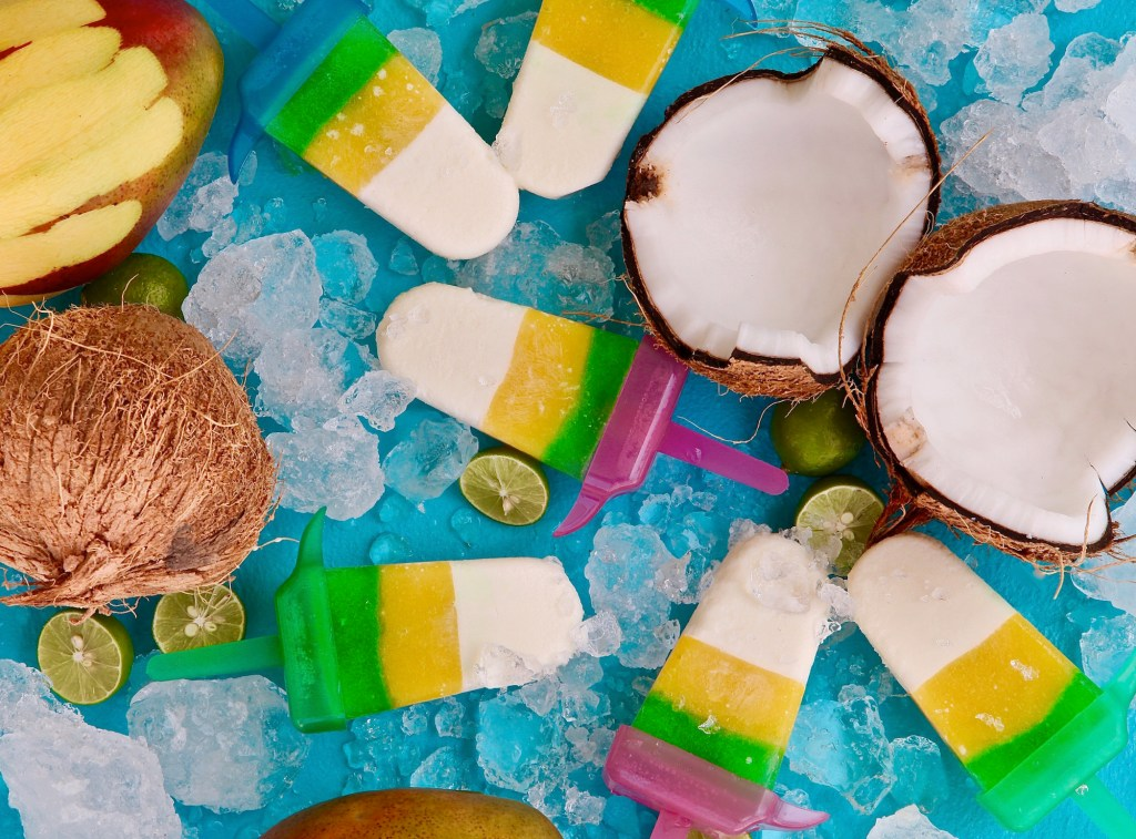 Lime coconut mango paletas to celebrate #PaletaWeek and the first day of summer
