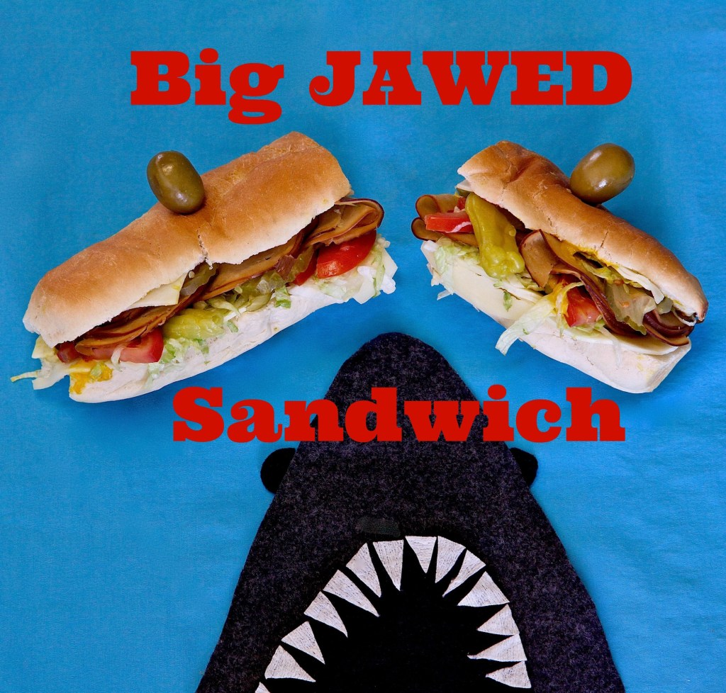 Big Jawed Submarine Sandwich inspired by the movie JAWS. Screening at the Hollywood Bowl