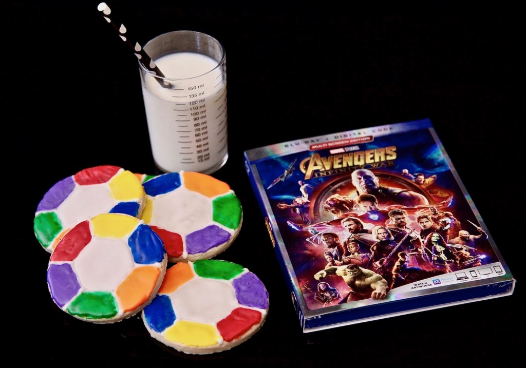 Infinity Stone Sugar Cookie Rings with Avengers: Infinity War Blu-Ray