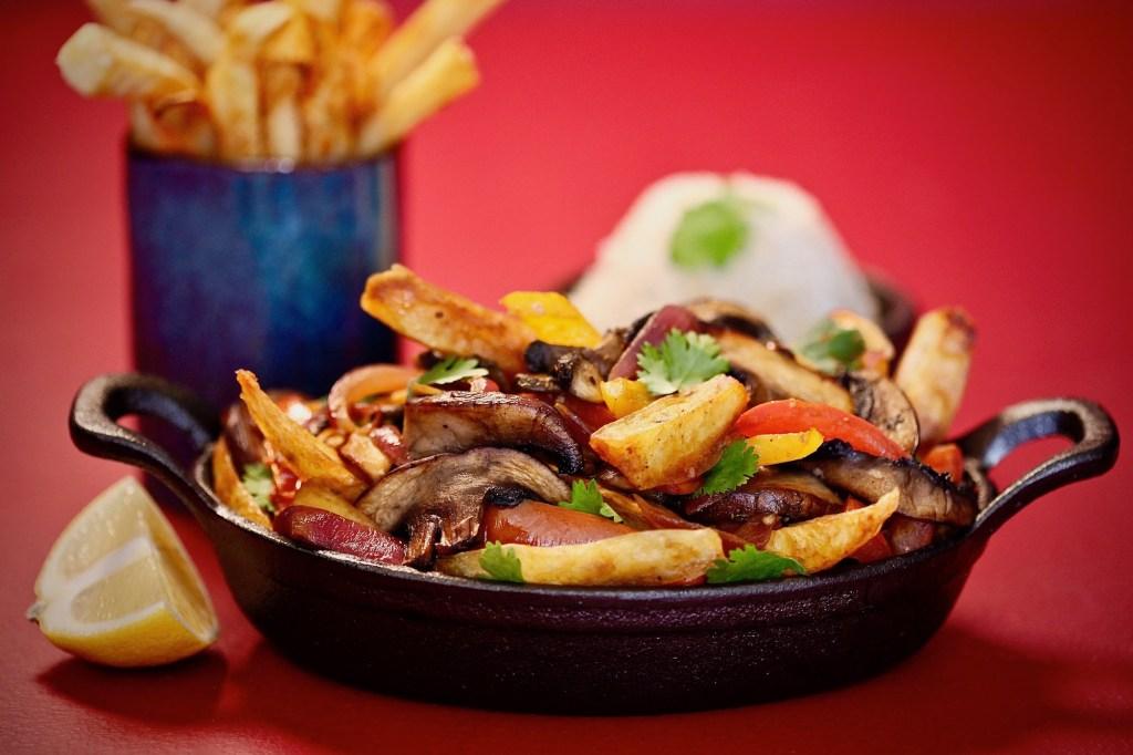 Mushroom Saltado is the plant based version of the meaty Peruvian Lomo Saltado. Made with Idaho Potatoes <3