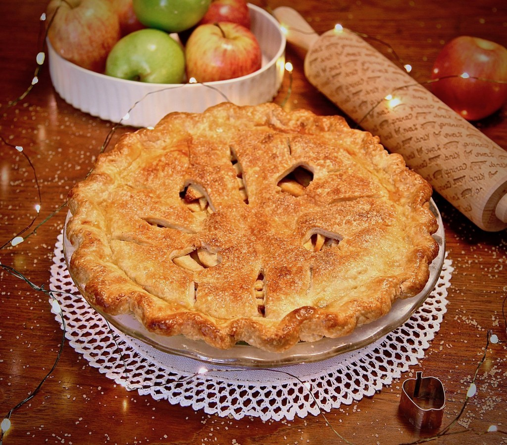 Holidays are not complete without a double crusted apple pie