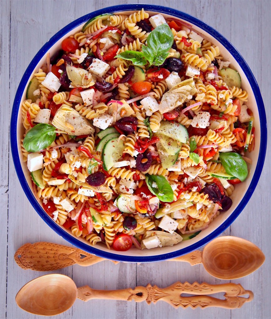 Mediterranean Rotini Pasta Recipe Salad