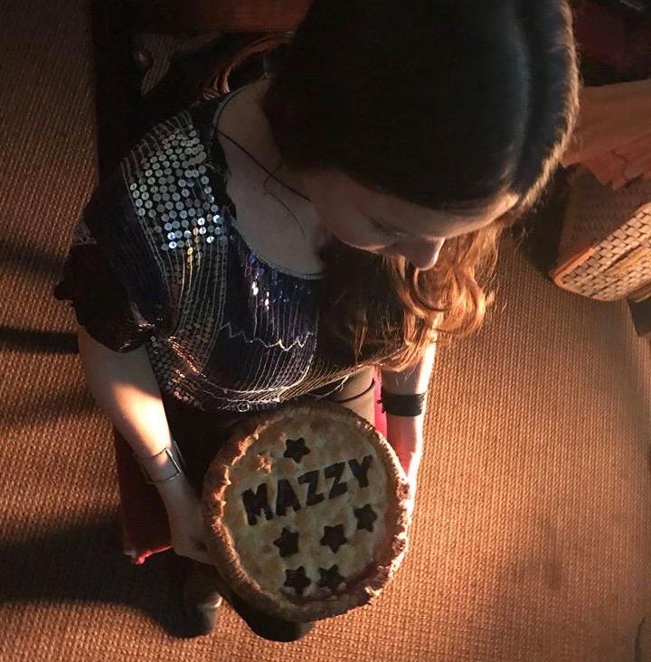 Hope Sandoval backstage with her Mazzy Star Cherry Pie