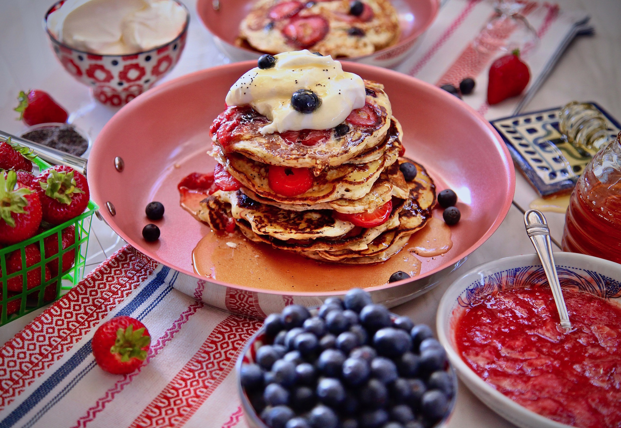 Berry Poppy Seed Pancakes
