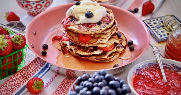Berry Poppy Seed Pancakes