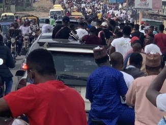 Photos From #EndSARS Protest In Ogbomosho, Oyo State