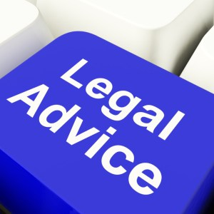 Legal Advice Computer Key In Blue Showing Attorney Guidance