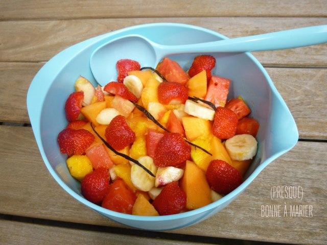 Salade fruits vanille
