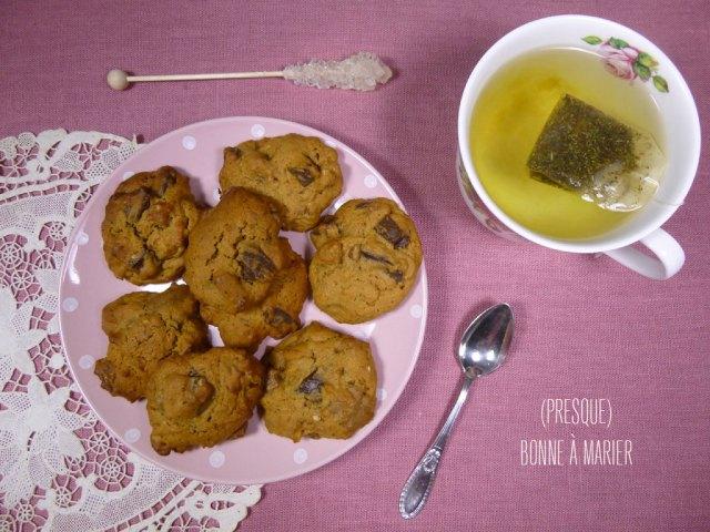 Mes cookies aux éclats de chocolat, Pralinoise et noix