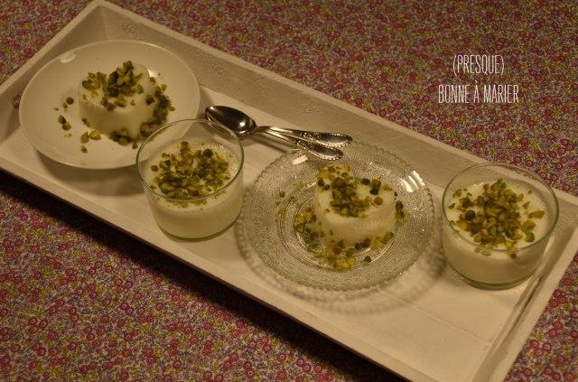 Mouhalabieh, dessert libanais à la fleur d'oranger
