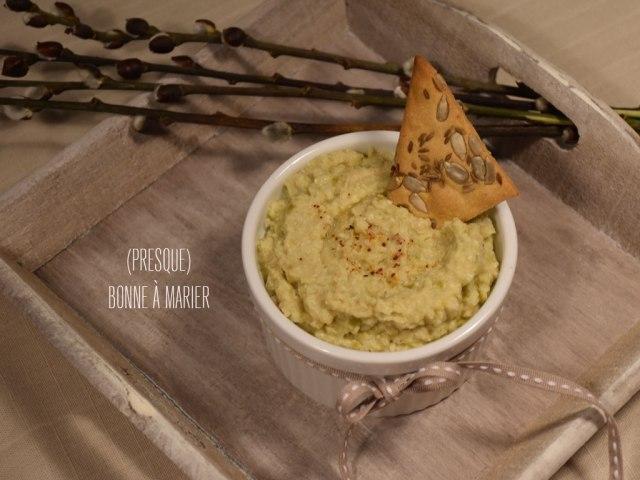 Tartinade aux cœurs d'artichauts et olives vertes et Crackers à la farine de pois chiches