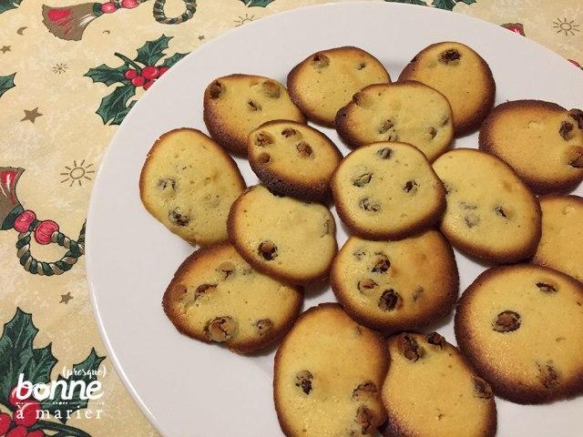 Palets de dame biscuits rhum raisins secs