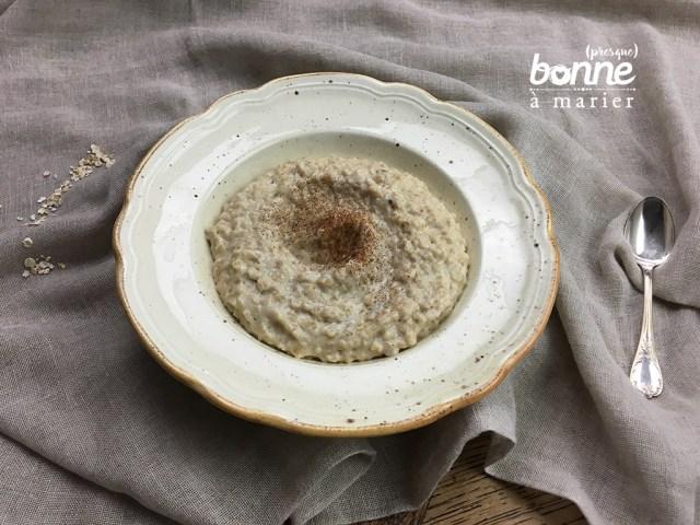 Porridge aux épices douces