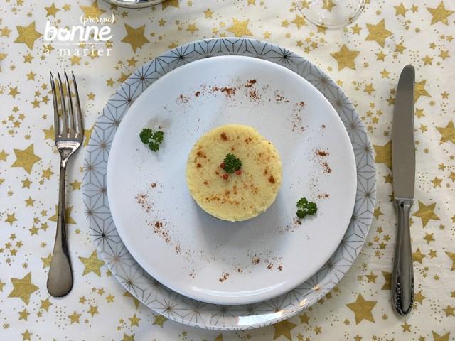 Parmentier végétarien de Noël au céleri, châtaignes et champignons
