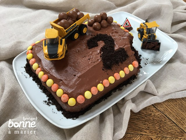 Gâteau chantier au chocolat