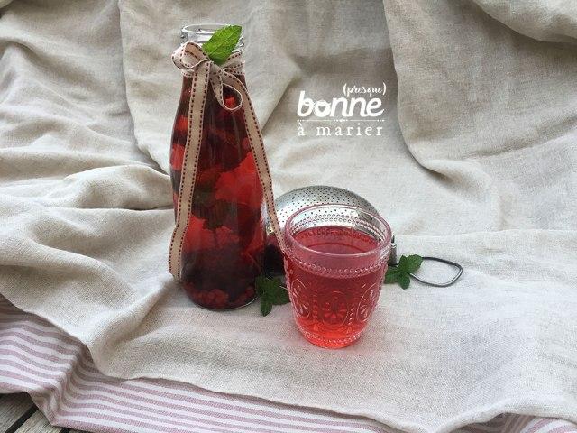 Eau parfumée aux fruits rouges et à la menthe