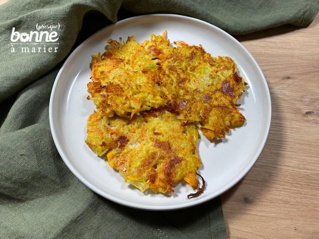 Röstis aux carottes, courgettes et pommes de terre