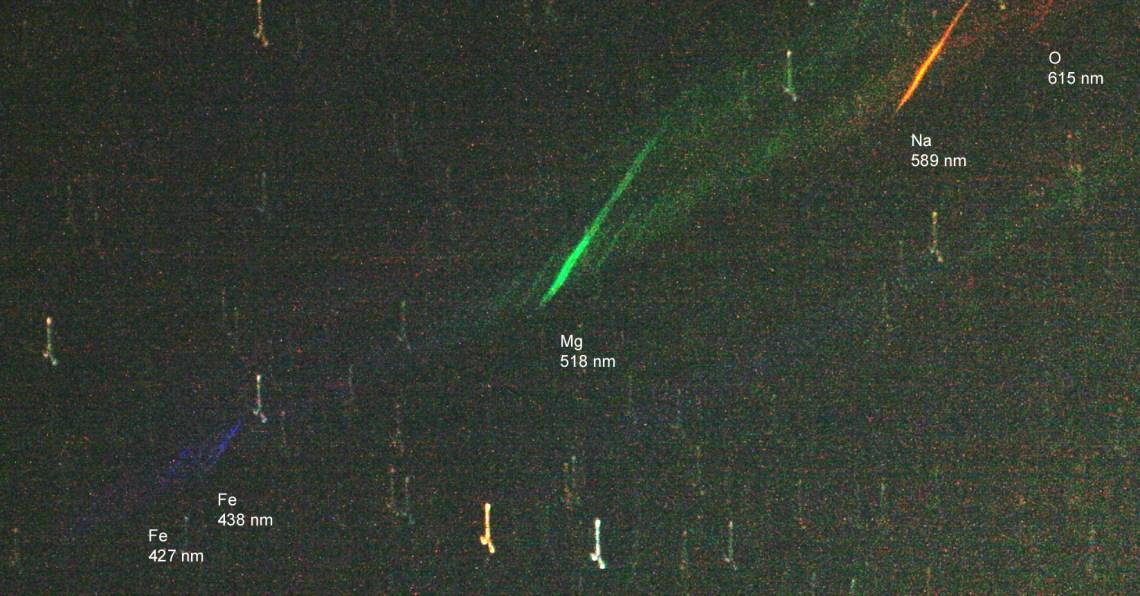 composição química de meteoro