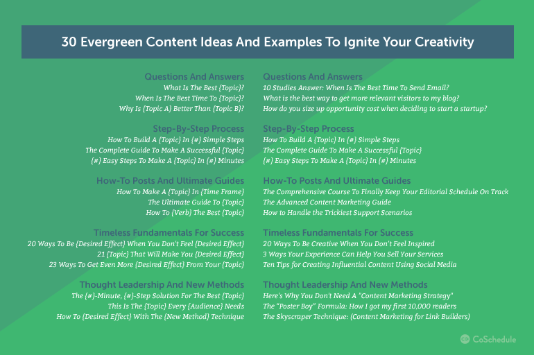Tips on Creating Evergreen Content