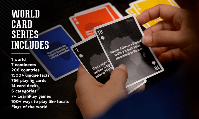 The World Card Series on Kickstarter Gamifies World Discovery and World Facts