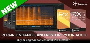 iZotope release RX 5 Audio Editor