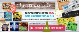 123creative.com launches Christmas sale 2015 for all electronic music producers