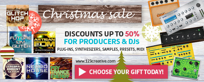 123creative.com_launches_Christmas_sale_2015_for_all_electronic_music_producers