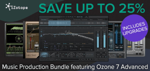 iZotope launch March mastering and music production deals