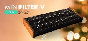 Arturia's MiniFilter V giveaway is ending on Dec 28th 2016.
