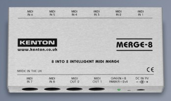 Kenton releases the eight-input intelligent MIDI merge unit Merge-8