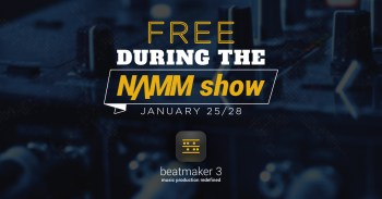 BeatMaker 3 available for free during NAMM (Jan 25-28th)