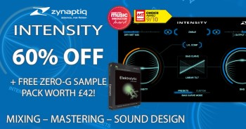 Time+Space announce 60% off Zynaptiq Intensity + exclusive free Zero-G Elektrolytic sample pack