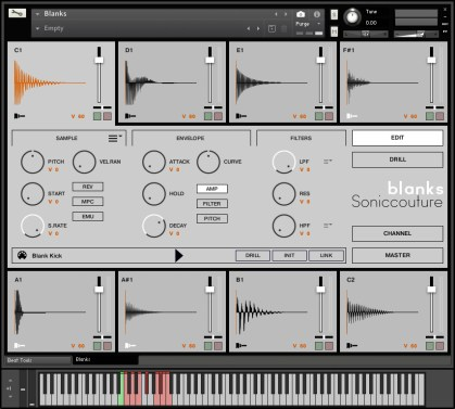 Soniccouture Blanks: Drag and Drop Drum Sampler