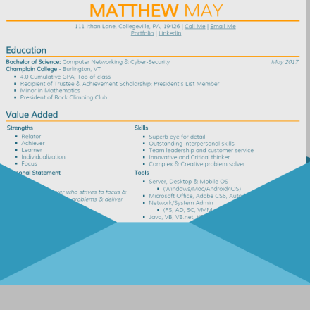Web-Based Resume