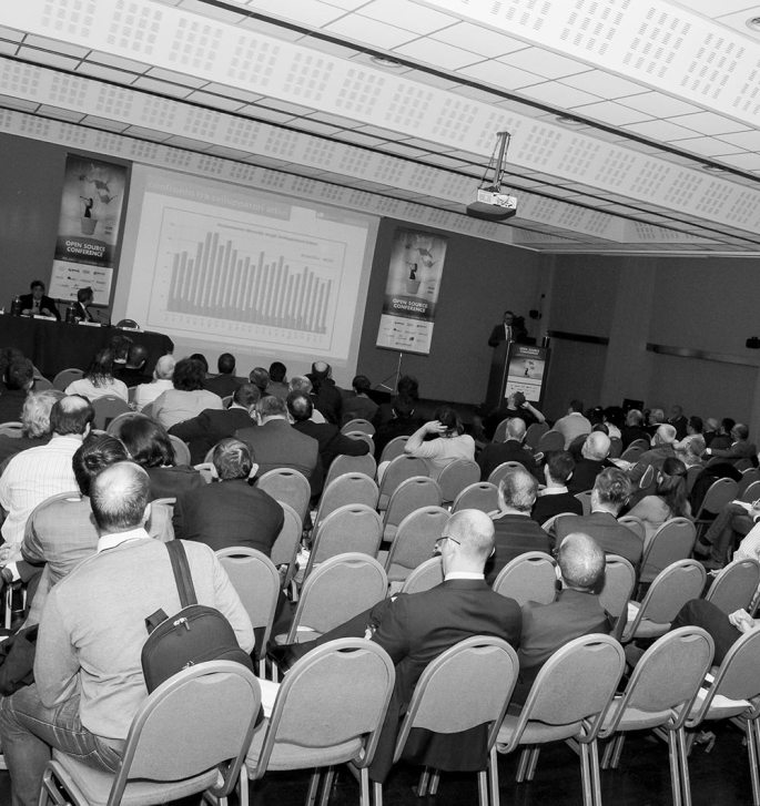 Platea dell'Open Source Conference14 Milano