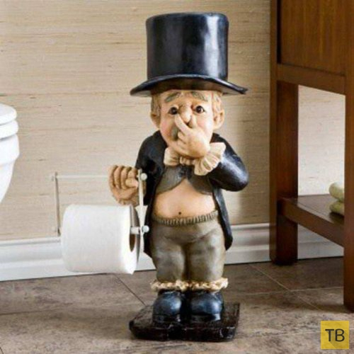 Креативные держатели для туалетной бумаги (29 фото)