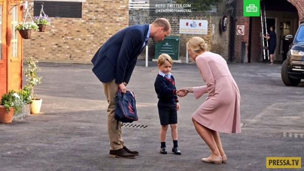 Принц Джордж Кембриджский пошел в школу (9 фото + видео)