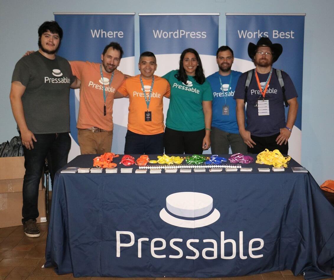 The Pressable team at WordCamp San Antonio 2017.
