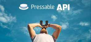 A man looking up at Pressable's new API.